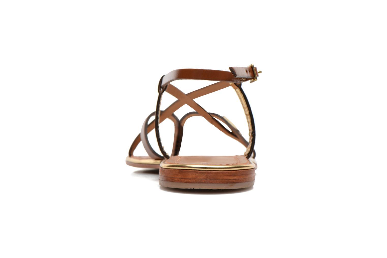 Sandales et nu-pieds Les Tropéziennes par M Belarbi Monaco Marron vue droite