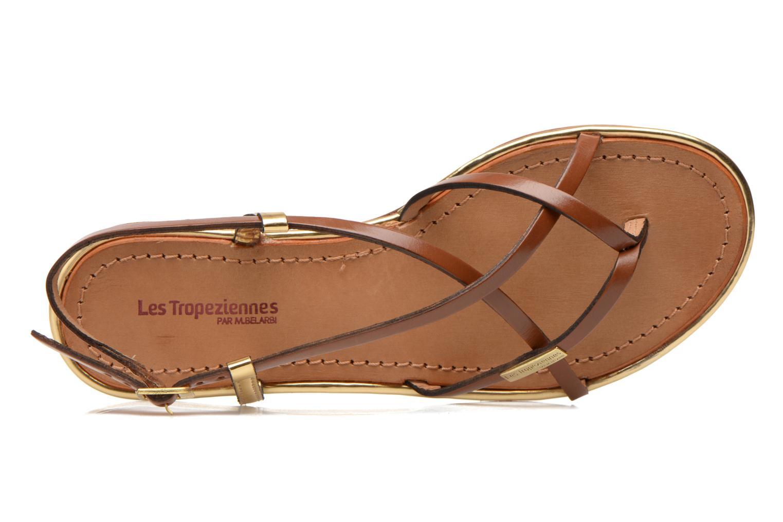 Sandalen Les Tropéziennes par M Belarbi Monaco braun ansicht von links