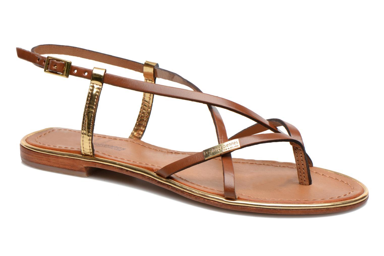 Sandals Les Tropéziennes par M Belarbi Monaco Brown detailed view/ Pair view