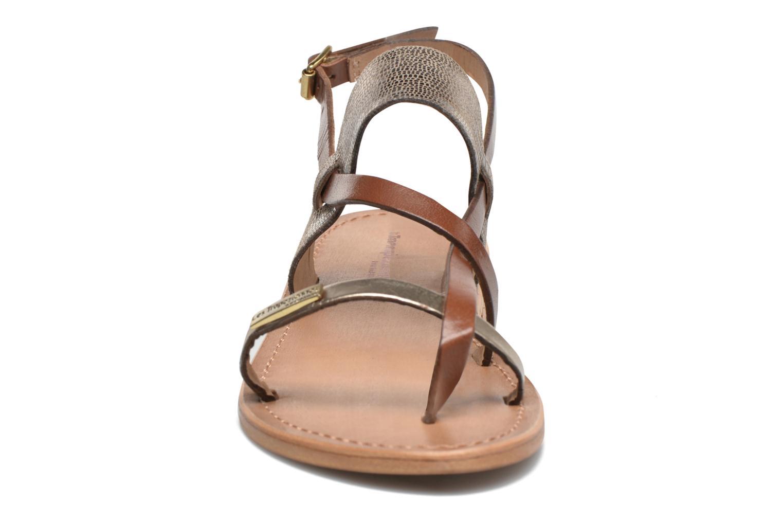 Sandales et nu-pieds Les Tropéziennes par M Belarbi Baule Marron vue portées chaussures