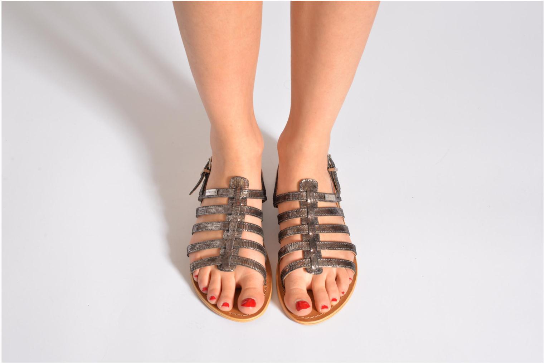 Sandales et nu-pieds Les Tropéziennes par M Belarbi Brillant Bleu vue bas / vue portée sac