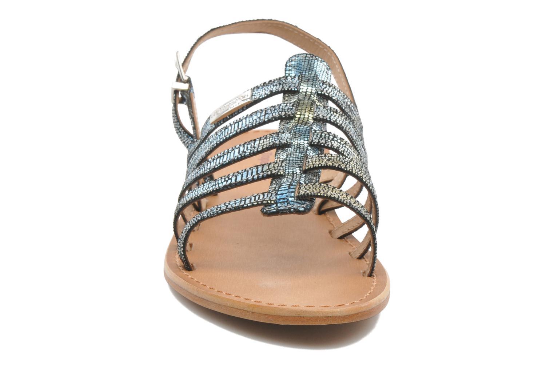 Sandales et nu-pieds Les Tropéziennes par M Belarbi Brillant Bleu vue portées chaussures