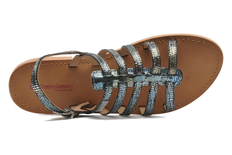 Sandales et nu-pieds Les Tropéziennes par M Belarbi Brillant Bleu vue gauche