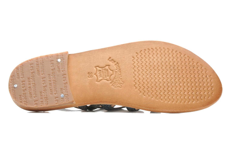 Sandales et nu-pieds Les Tropéziennes par M Belarbi Brillant Bleu vue haut