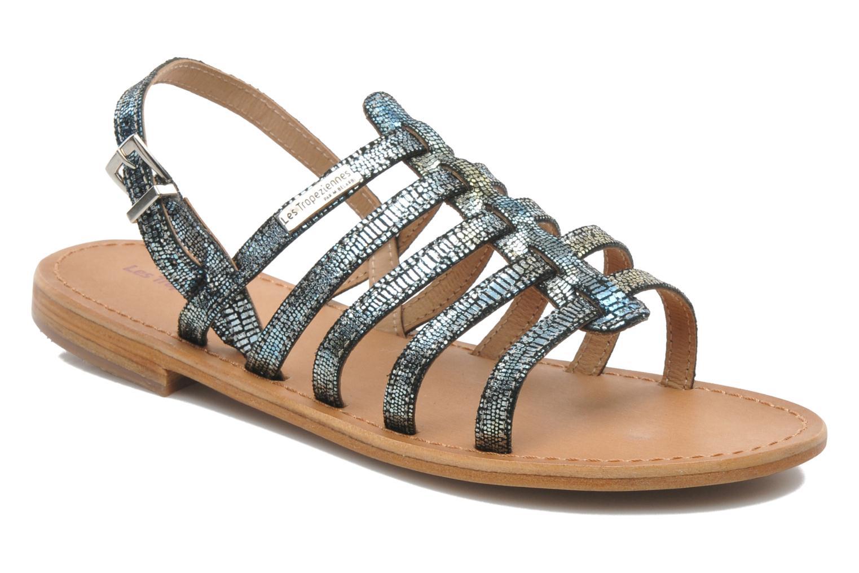 Sandales et nu-pieds Les Tropéziennes par M Belarbi Brillant Bleu vue détail/paire