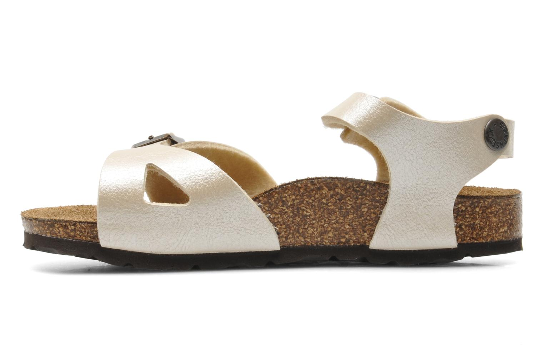 Sandales et nu-pieds Birkenstock Rio Flor Beige vue face