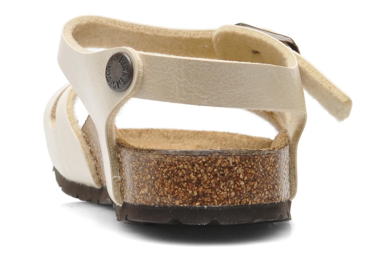 Sandales et nu-pieds Birkenstock Rio Flor Beige vue droite
