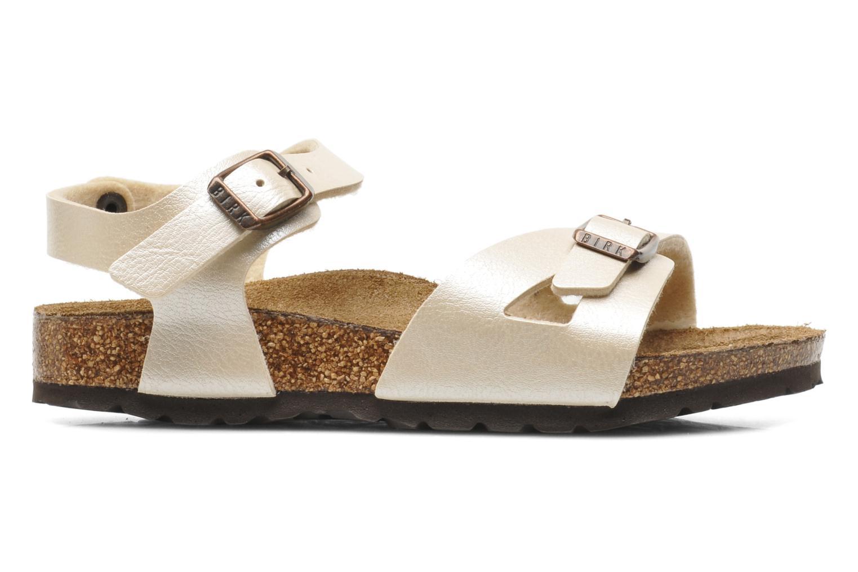 Sandales et nu-pieds Birkenstock Rio Flor Beige vue derrière