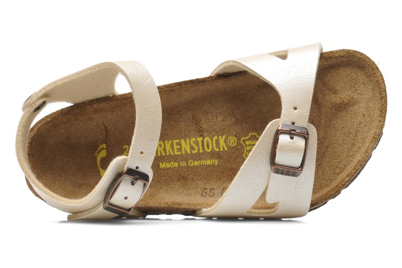 Sandales et nu-pieds Birkenstock Rio Flor Beige vue gauche