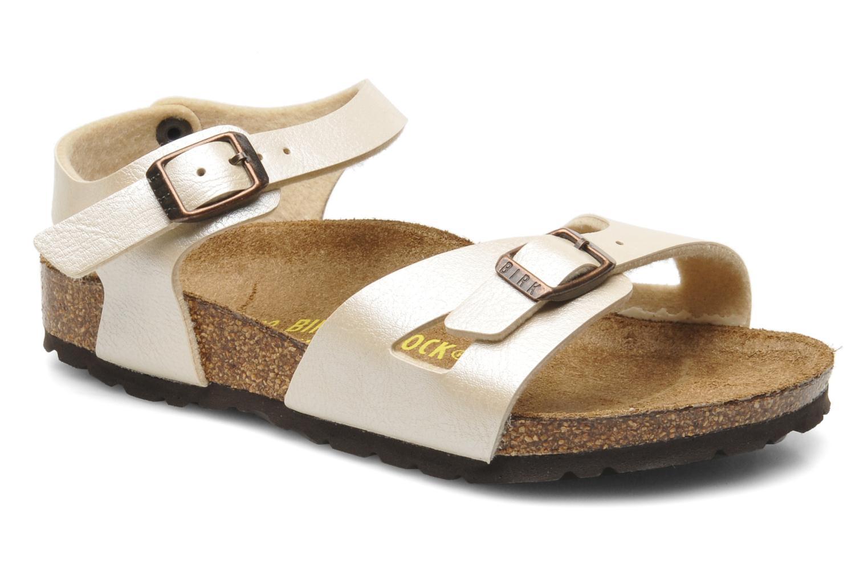 Sandales et nu-pieds Birkenstock Rio Flor Beige vue détail/paire