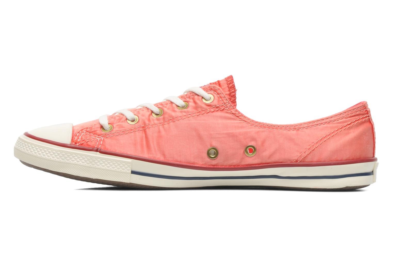 Sneaker Converse CTAS Fancy Supernova Wash Ox W orange ansicht von vorne