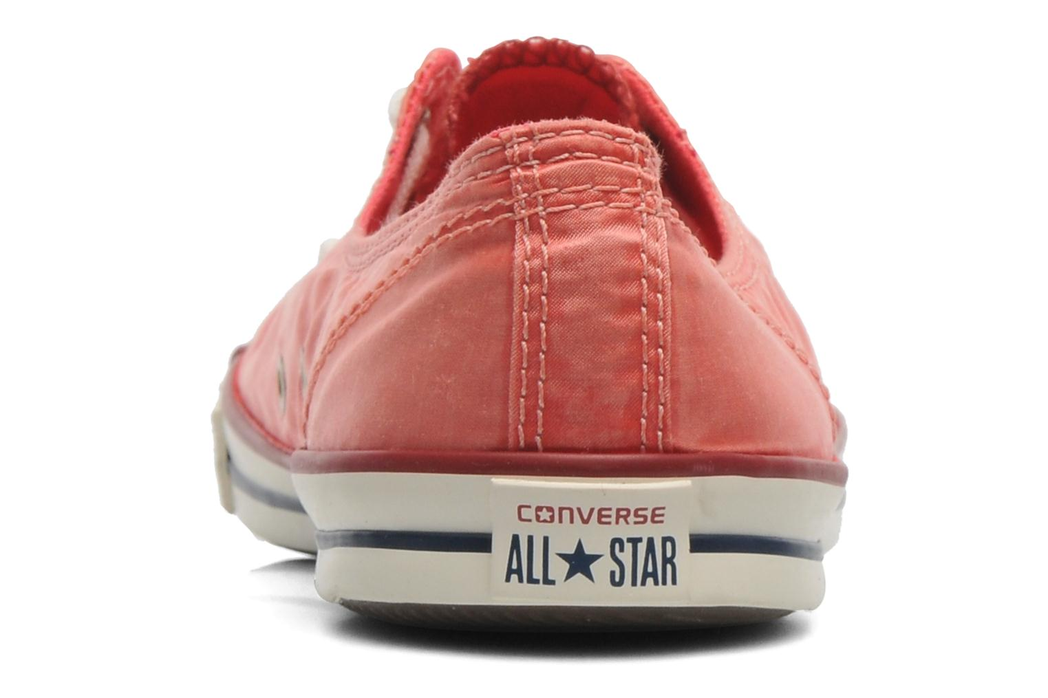 Baskets Converse CTAS Fancy Supernova Wash Ox W Orange vue droite