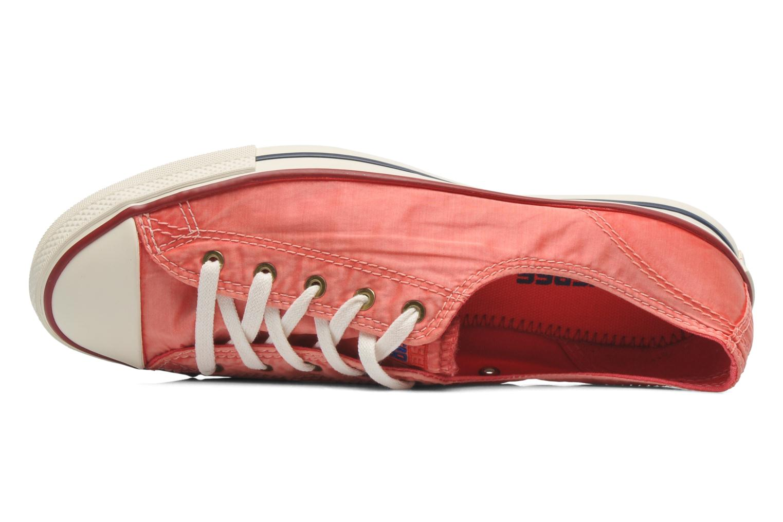 Sneaker Converse CTAS Fancy Supernova Wash Ox W orange ansicht von links
