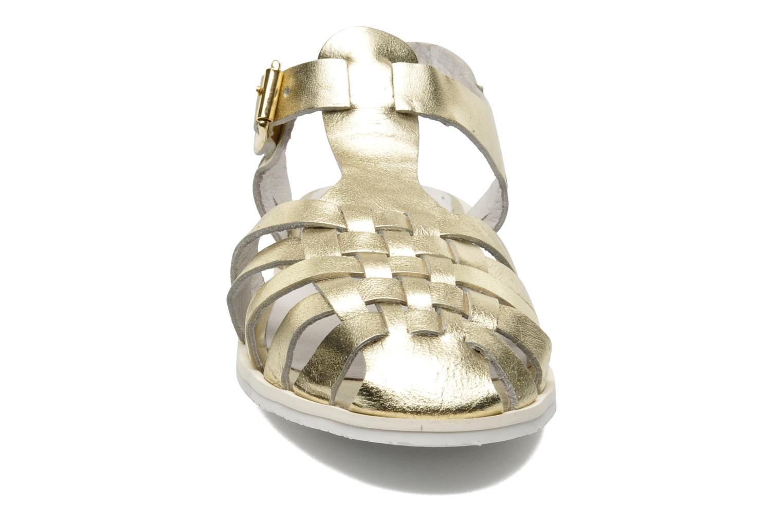 Sandales et nu-pieds Yep Bernice Or et bronze vue portées chaussures