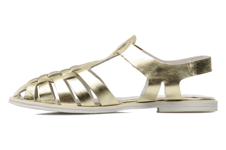 Sandales et nu-pieds Yep Bernice Or et bronze vue face