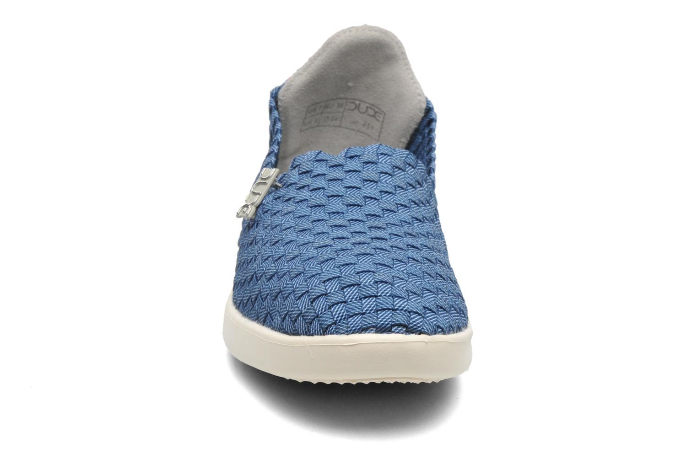 Baskets DUDE E-last simple Bleu vue portées chaussures
