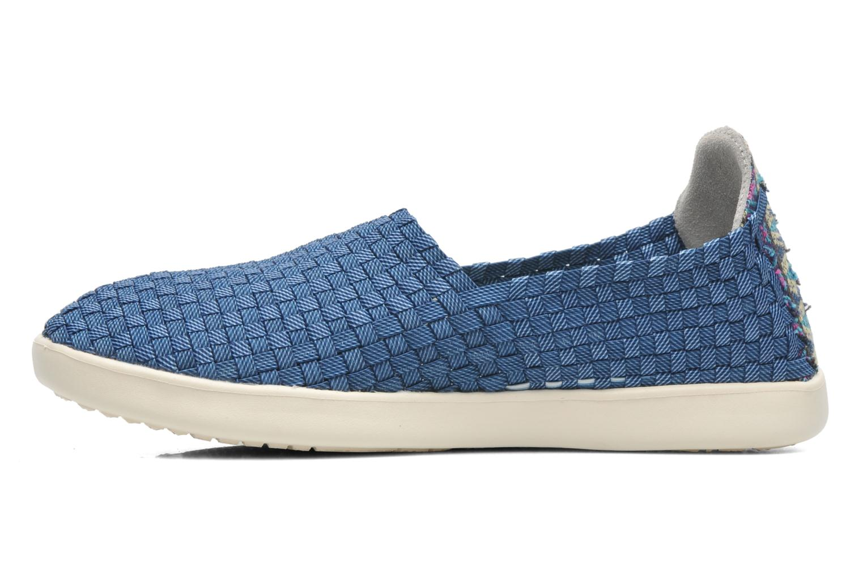 Sneaker DUDE E-last simple blau ansicht von vorne