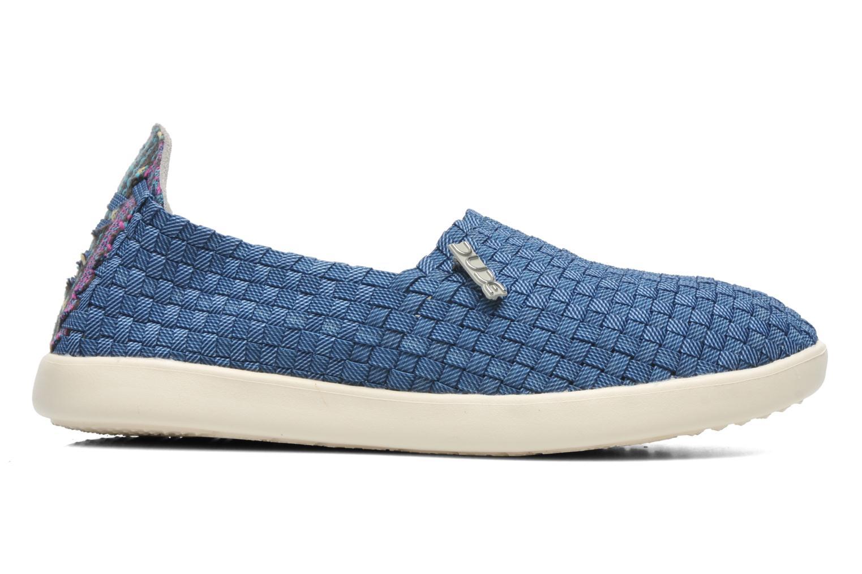 Sneaker DUDE E-last simple blau ansicht von hinten
