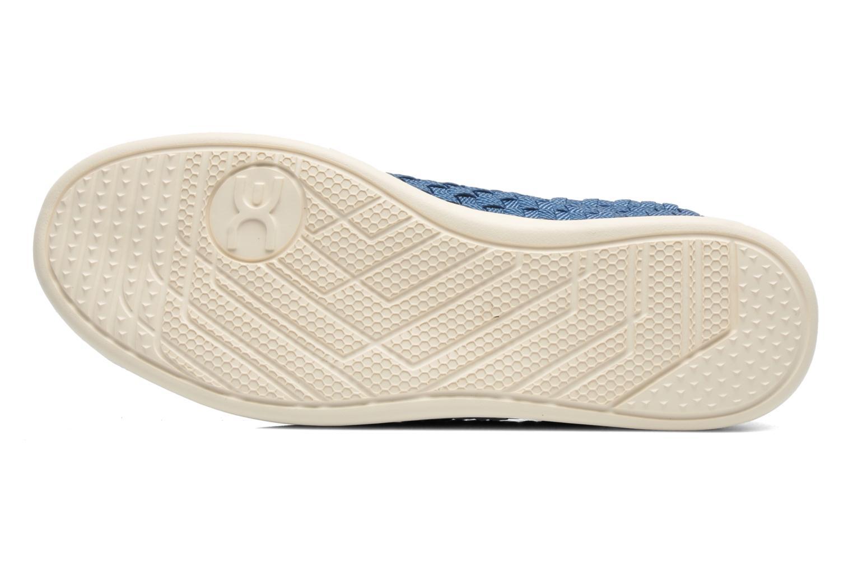 Baskets DUDE E-last simple Bleu vue haut