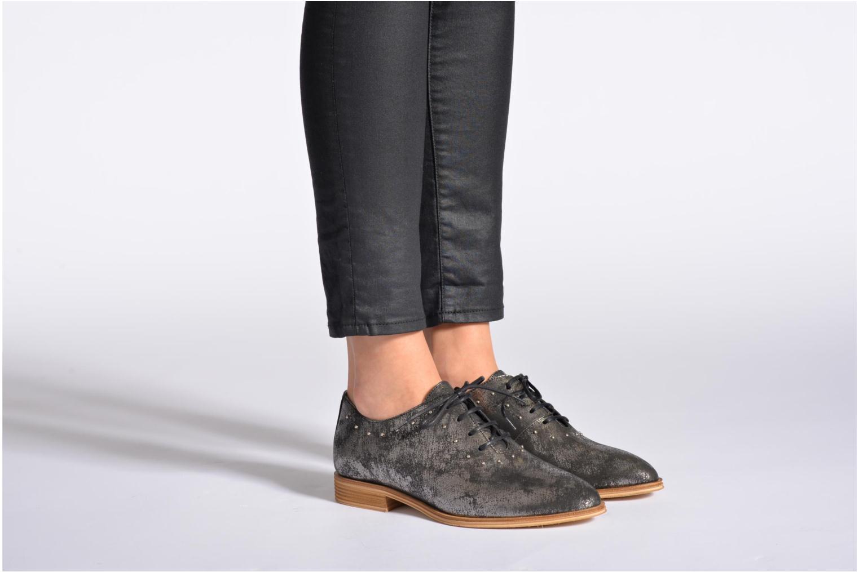 Chaussures à lacets Schmoove Woman Velours Studs Noir vue bas / vue portée sac