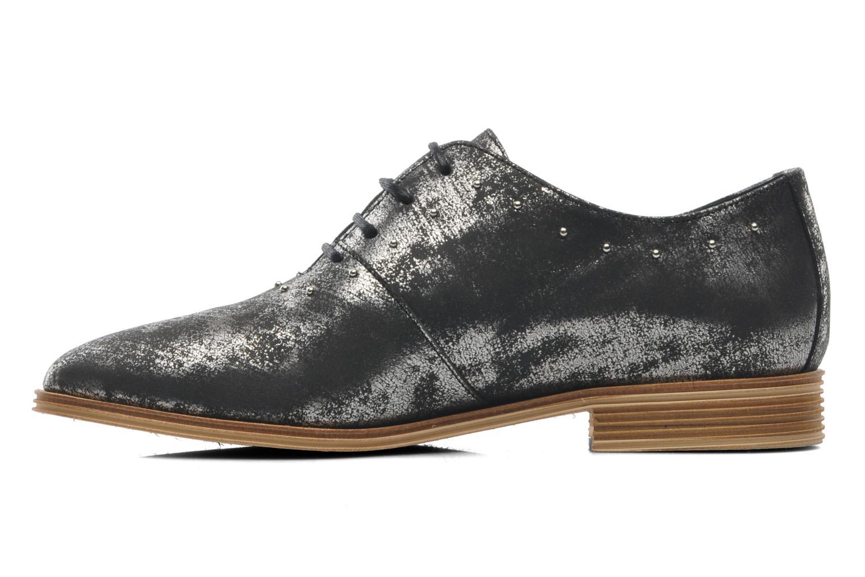 Chaussures à lacets Schmoove Woman Velours Studs Noir vue face