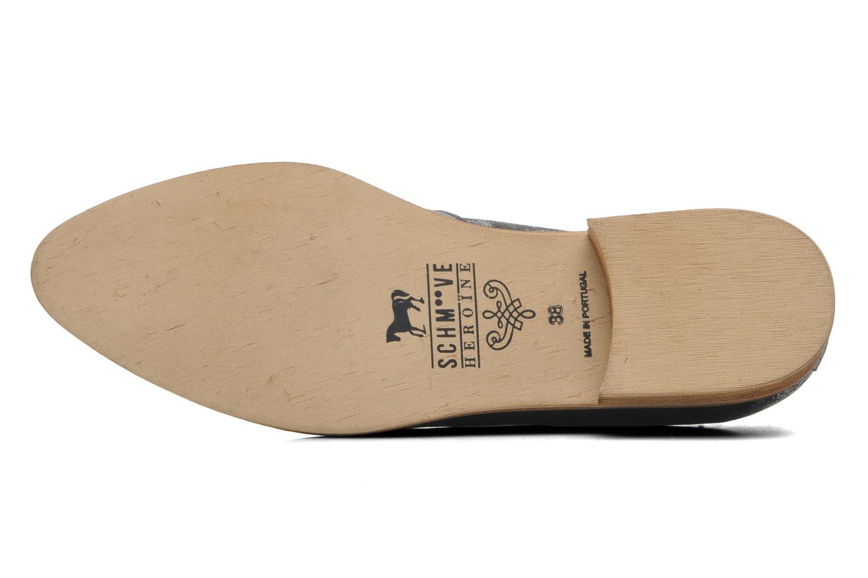 Chaussures à lacets Schmoove Woman Velours Studs Noir vue haut