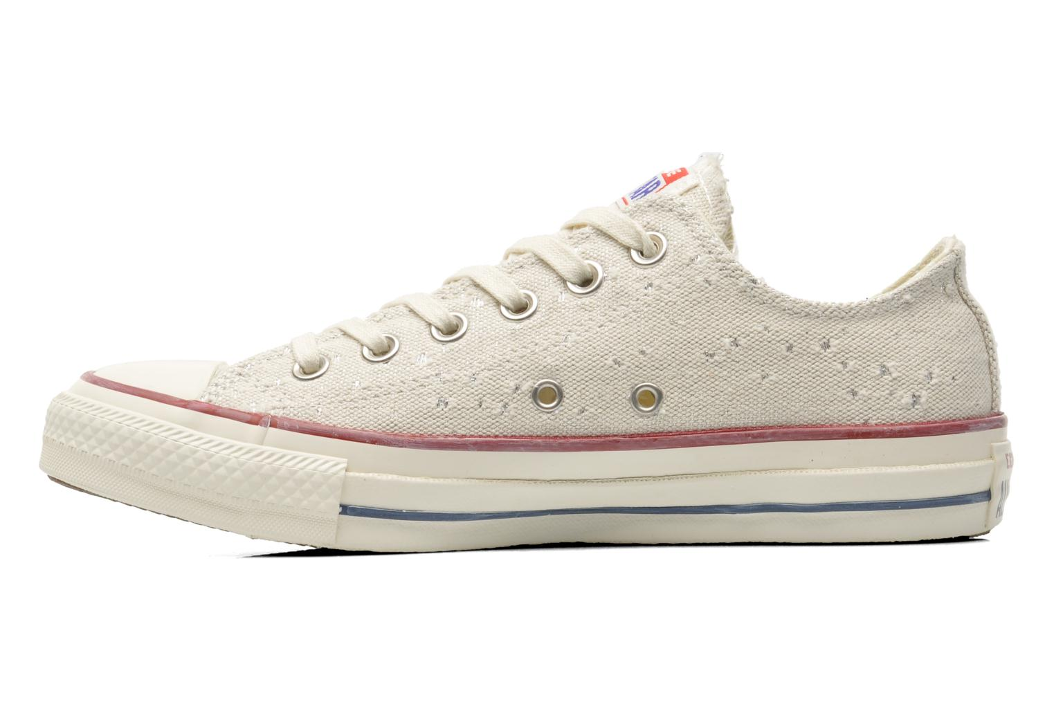 Baskets Converse Chuck Taylor All Star Lurex Sparkle Ox W Beige vue face