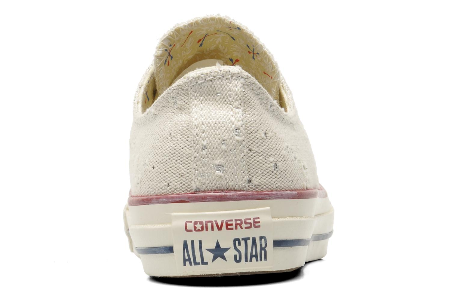 Baskets Converse Chuck Taylor All Star Lurex Sparkle Ox W Beige vue droite