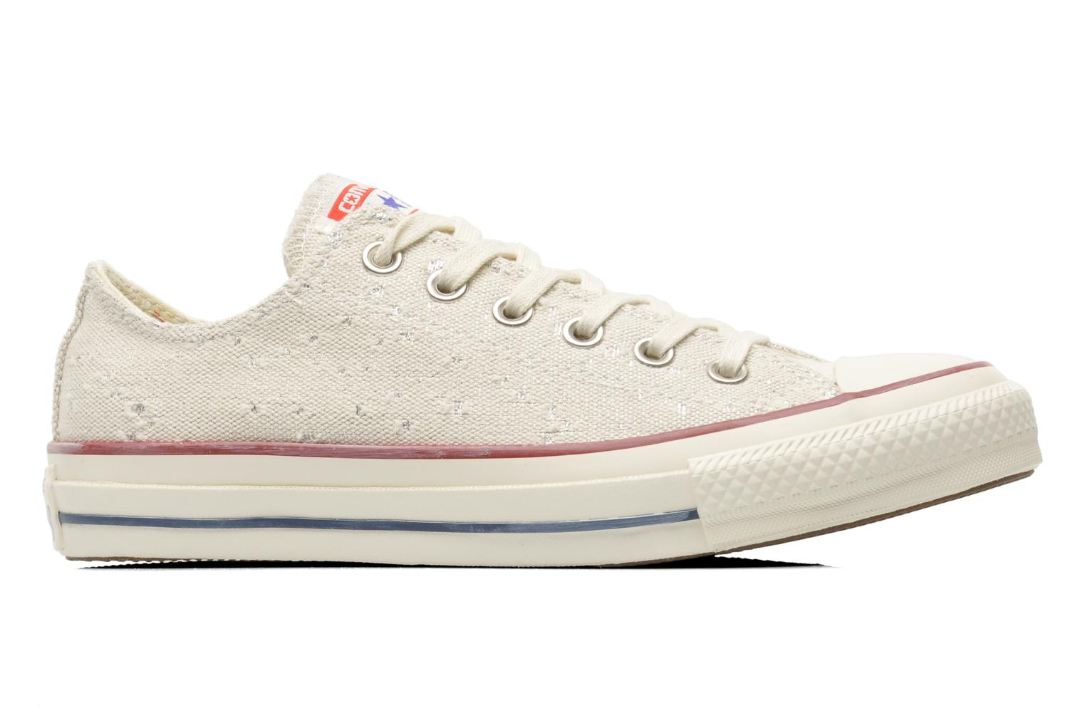 Baskets Converse Chuck Taylor All Star Lurex Sparkle Ox W Beige vue derrière