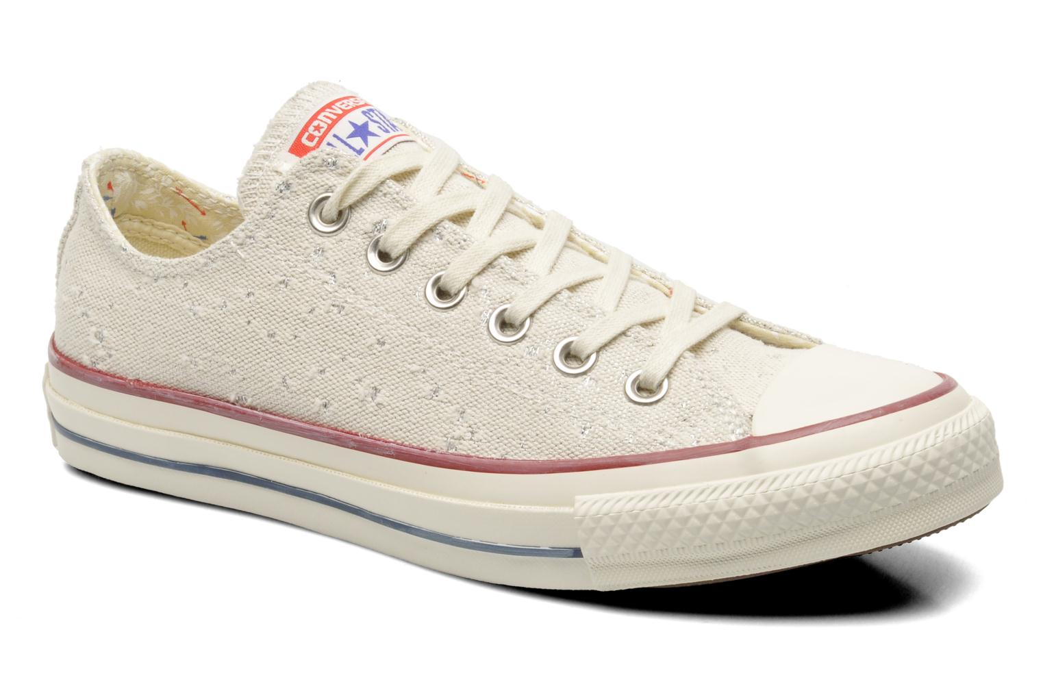 Baskets Converse Chuck Taylor All Star Lurex Sparkle Ox W Beige vue détail/paire