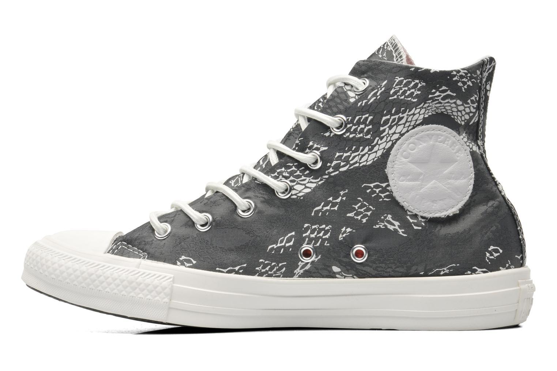 Sneaker Converse Chuck Taylor Reptile Print Hi W schwarz ansicht von vorne