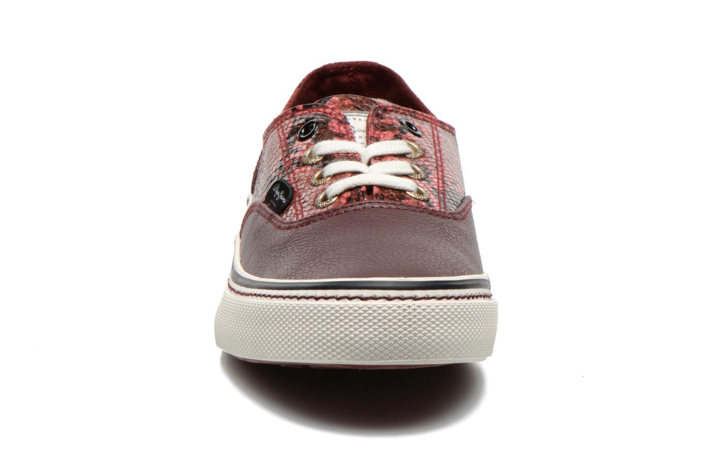 Baskets Pepe jeans Alford Bordeaux vue portées chaussures