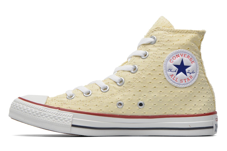 Baskets Converse Chuck Taylor All Star Perf Cvs Hi W Beige vue face