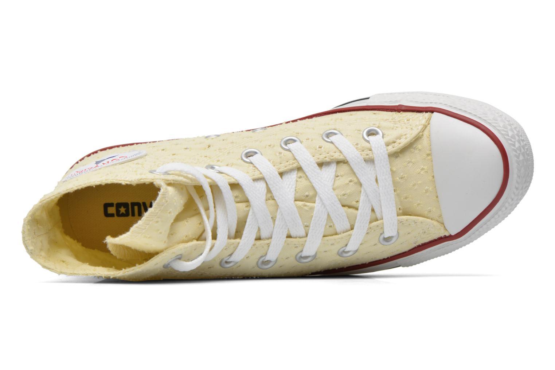 Deportivas Converse Chuck Taylor All Star Perf Cvs Hi W Beige vista lateral izquierda