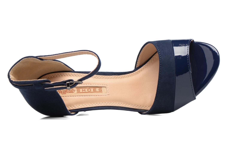 Sandalen Buffalo Olivia blau ansicht von links