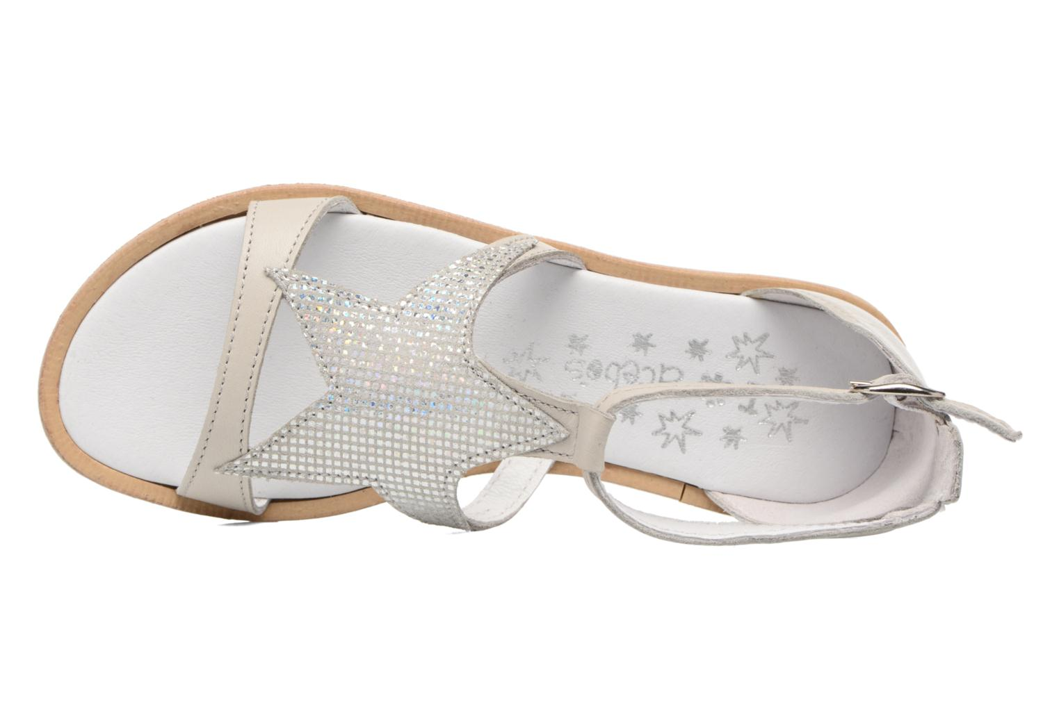 Sandals Acebo's Constellé Silver view from the left