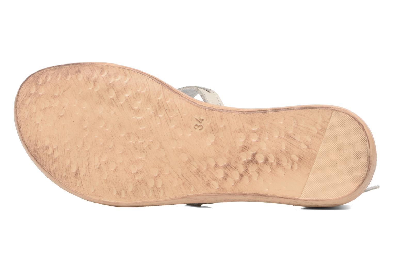 Sandales et nu-pieds Acebo's Constellé Argent vue haut