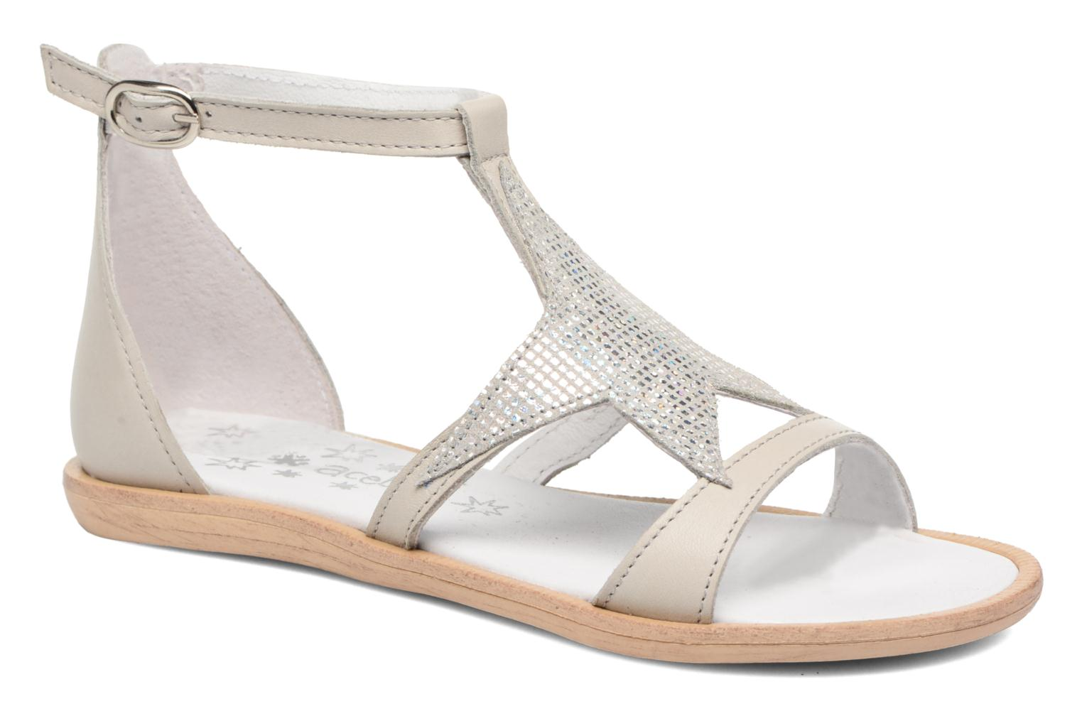 Sandals Acebo's Constellé Silver detailed view/ Pair view