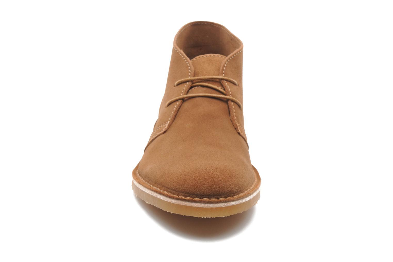 Zapatos con cordones Selected Homme Sh Leon Marrón vista del modelo