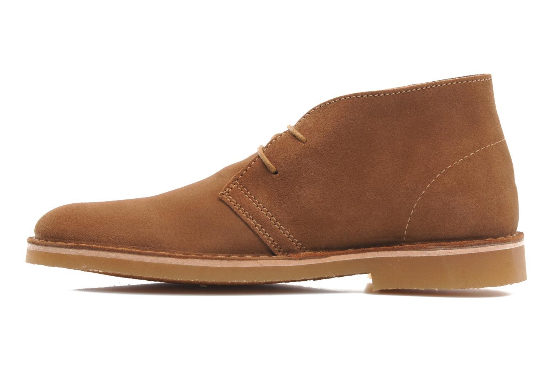 Chaussures à lacets Selected Homme Sh Leon Marron vue face