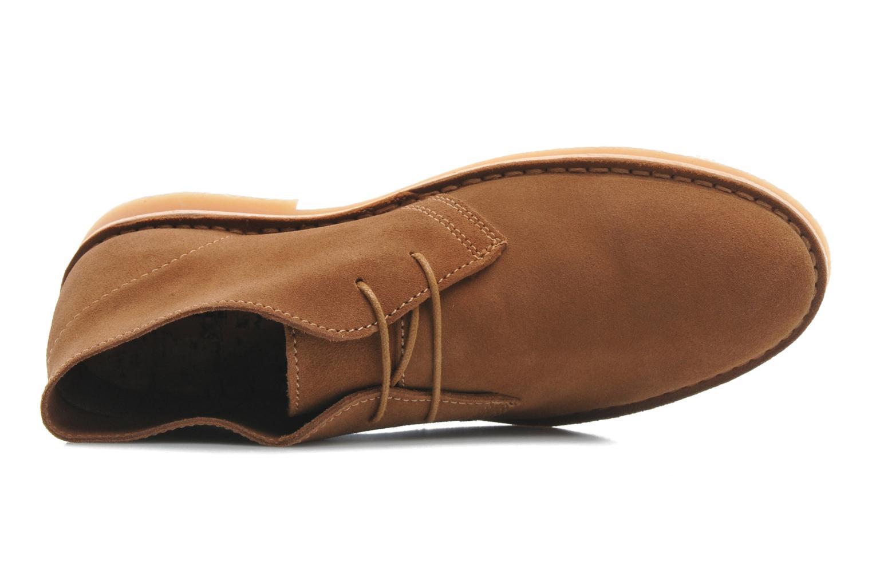 Chaussures à lacets Selected Homme Sh Leon Marron vue gauche
