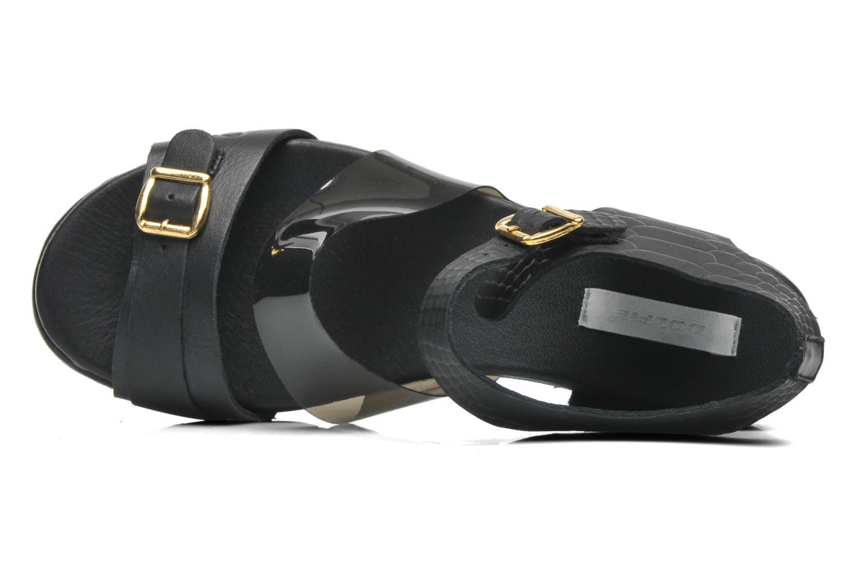 Sandales et nu-pieds Dolfie Nina Noir vue gauche