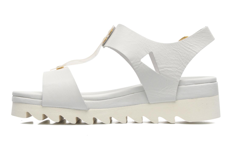 Sandales et nu-pieds Dolfie Mika Blanc vue face