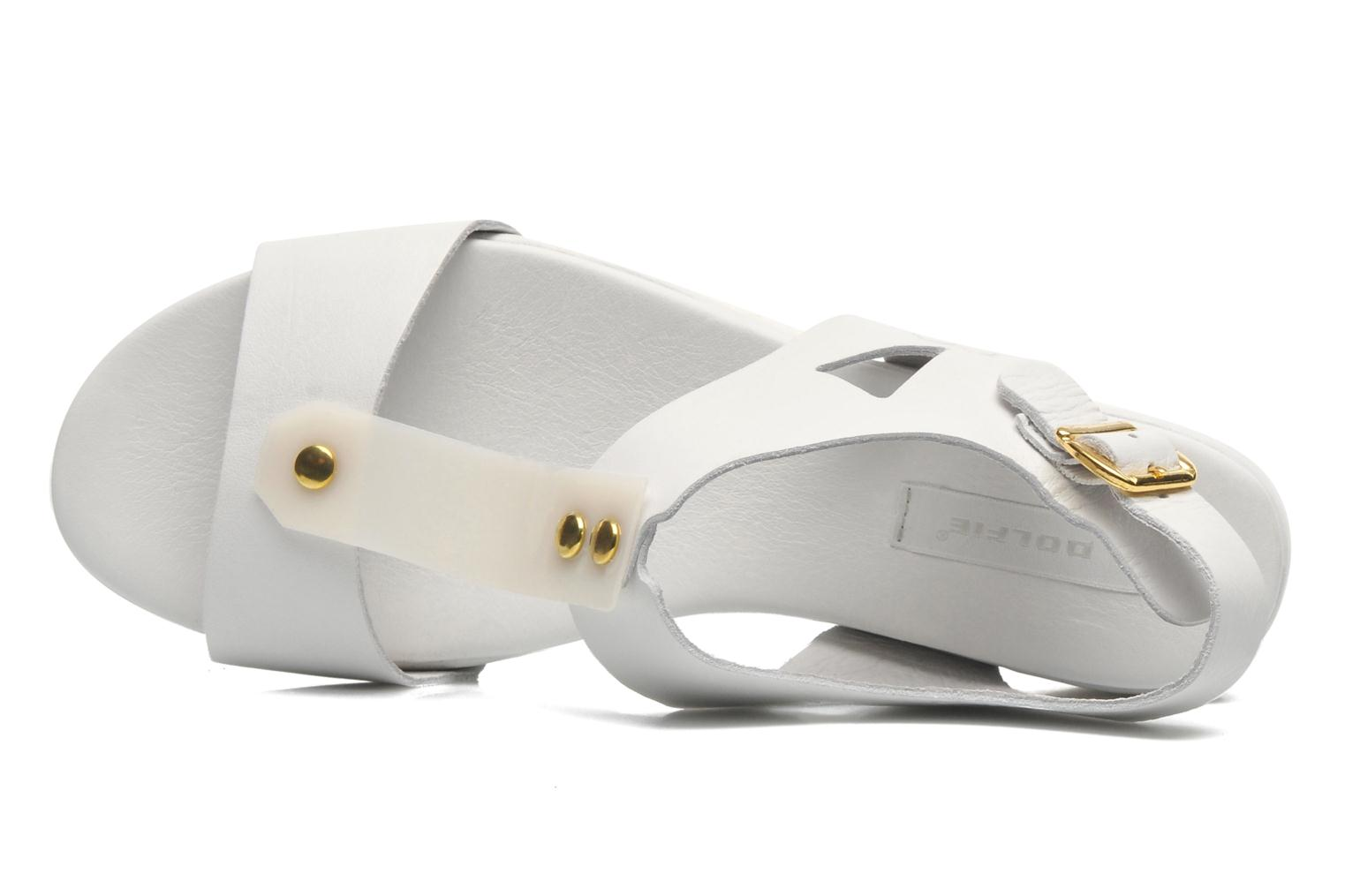 Mika White leather