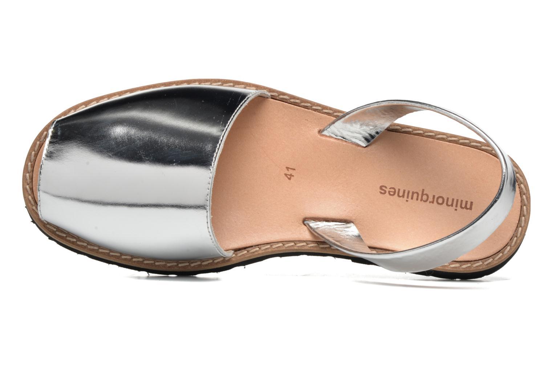 Sandales et nu-pieds MINORQUINES Avarca Argent vue gauche