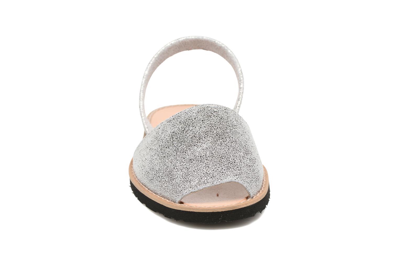 Sandals MINORQUINES Avarca Silver model view