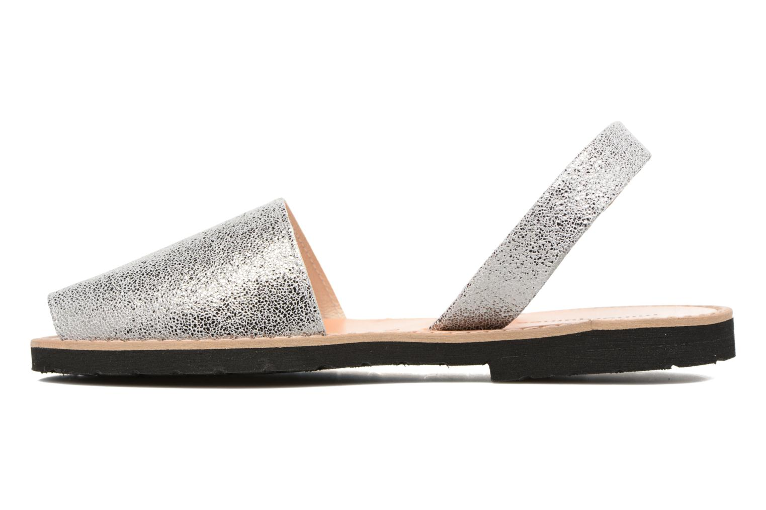 Sandals MINORQUINES Avarca Silver front view