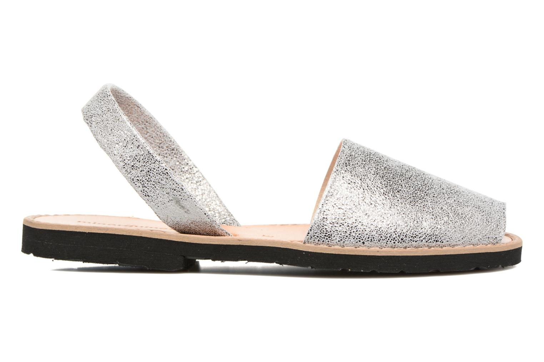 Sandals MINORQUINES Avarca Silver back view