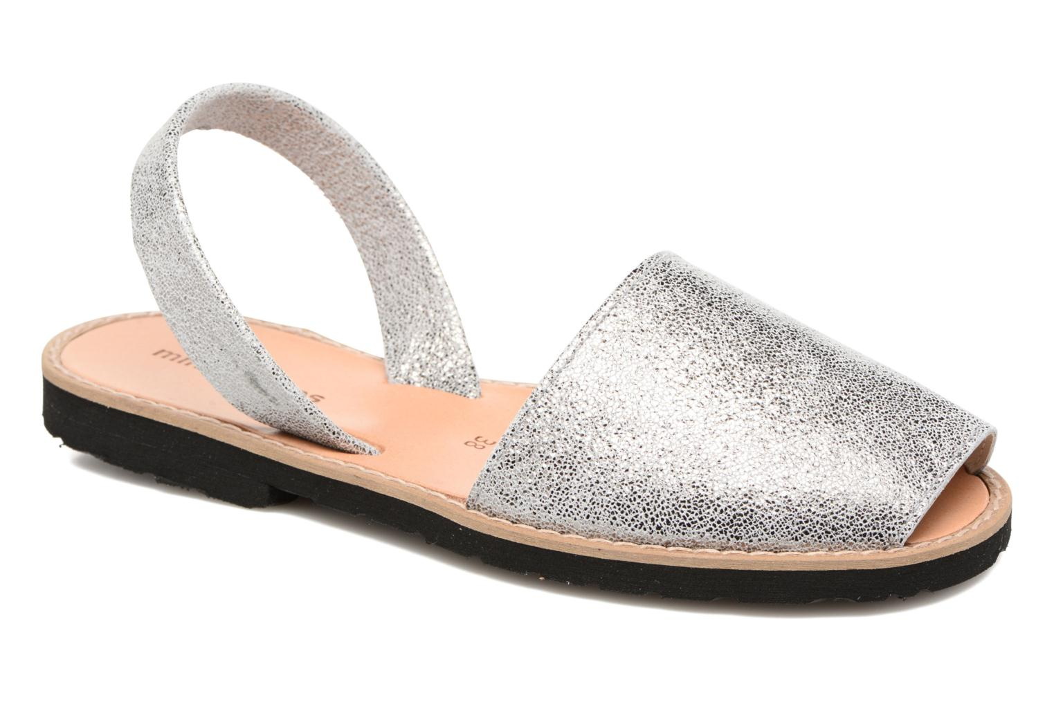 Sandals MINORQUINES Avarca Silver detailed view/ Pair view