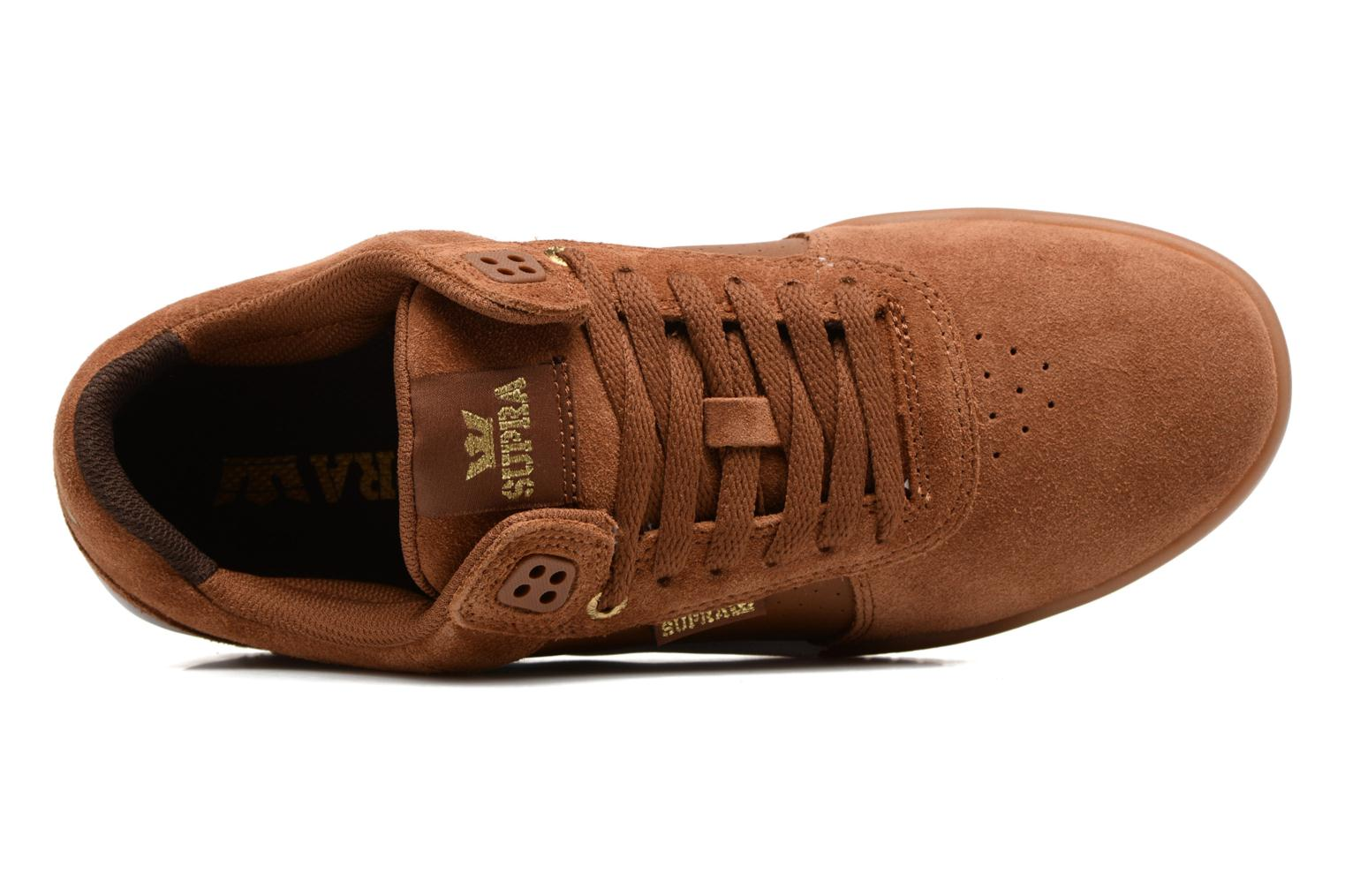 Sport shoes Supra Ellington Brown view from the left
